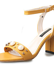 Damen-Sandalen-Lässig-PU-Block Ferse-Komfort-
