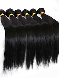 Low Price 6Pcs/Lot 8-26inch Peruvian Virgin Straight Hair Natural Black Wavy Human Hair Bundles.
