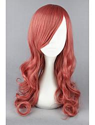 Medium Final Fantasy13-EclairFarron Pink Mixed Curly 26inch Anime Cosplay Wigs CS-173A