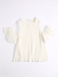 Girl's Casual/Daily Solid Dress,Cotton Summer