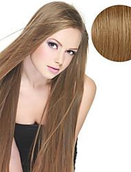 20pcs fita em extensões de cabelo # 8 cinza marrom 40g 16inch 20inch 100% cabelo humano para mulheres
