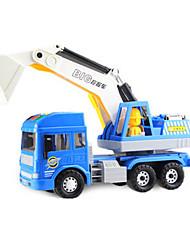 Construção veículo puxar para trás veículos carro brinquedos 1:25 abs plástico arco-íris modelo&Brinquedo de construção