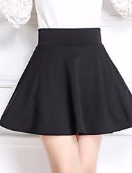 Women's High Rise Mini Skirts Swing Solid