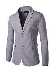 Costume / Tailleur Homme,Couleur Pleine Travail simple Printemps Manches longues Col de Chemise Court Others
