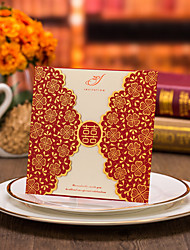Double Gate-Fold Wedding Invitations Invitation Cards-50 Piece/Set Flora Style Card Paper Print