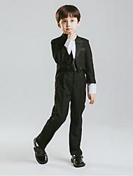 Хлопок Детский праздничный костюм - 5 Куски Включает в себя Куртка Брюки Широкий пояс Рубашка Бабочка