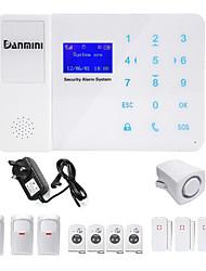 Danmini touch key gsm sans fil accueil automatique téléphone sms système d'alarme contrôle de téléphone portable