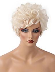 DIY Fluffy  Elegant    Short Curly Hair   Human Hair Wig Refreshing  Woman hair