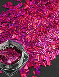 1 бутылка новой моды сладкий дизайн роза красные ногтей ромб лазерная полоса тонкий срез DIY красоты блеск ослепительно блестка украшения
