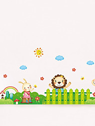 Wall Stickers Wall Decals Style Animal Paradise PVC Wall Stickers