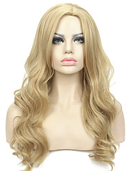 Long Layers Wavy in Dark Blonde Full Synthetic Wig