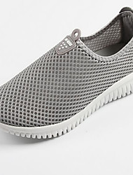 Loafers para mulheres&Slip-ons primavera luz solas tule casual fúcsia cinza preto andando