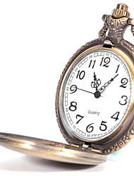Masculino Mulheres Relógio de Bolso Quartzo Lega Banda Prata
