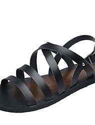 Masculino-Sandálias-ConfortoPreto-Lona-Casual