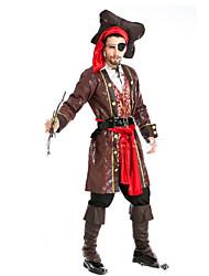 Costumes de Cosplay Pirate Fête / Célébration Déguisement d'Halloween Mode Haut Pantalon Chapeau Halloween Carnaval Masculin