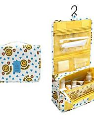 Conjunto de viagem de 1pcs, bolsa impermeável portátil, pendurado, sacos de lavagem, cor, aleatório