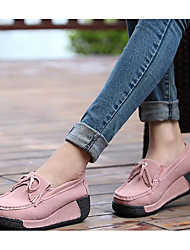 Damen-Flache Schuhe-Lässig-Leder PUKomfort-lichter Ocker Rot Rosa Königsblau