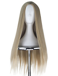 Synthetic 80cm Men Unisex Adult Thranduil Long Straight Hair Ash Blonde Color Fashion Movie Cosplay Costume Wig for Halloween Party