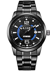 Men's Fashion Watch Quartz Alloy Band Black