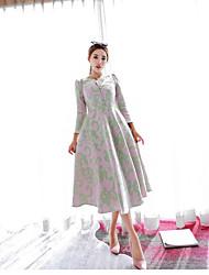2016 new winter temperament long section of high-end heavy jacquard big skirt dress tutu dress female