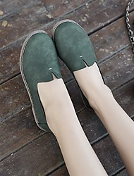 Women's Sneakers Light Up Shoes Canvas Outdoor Flat Heel Low Heel Light Green Beige Walking