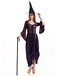 Costumes de Cosplay Sorcier/Sorcière Fête / Célébration Déguisement d'Halloween Autres Robe Chapeau Tanga Halloween FémininElasthanne