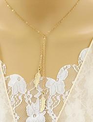 Mulheres colares em camadas Diamante Formato de Folha Liga Original Euramerican Jóias Para Festa Diário Casual 1peça