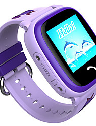 Kids smartwatch com gps rastreamento gsm cartão telefonema 1,22 polegadas touch screen oled hd tela colorida anti-lost ip67 impermeável