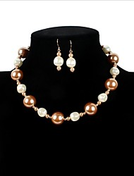 Bridal Jewelry Sets Love Bikini Imitation Pearl Movie Jewelry Euramerican Luxury Statement Jewelry Adorable Simple StyleImitation Pearl