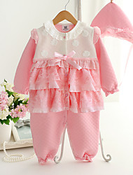 Baby Casual/Daily Patchwork One-Pieces,Cotton Spring Long Sleeve