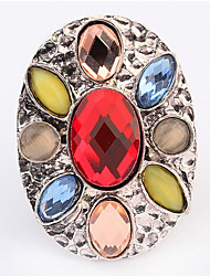 Euramerican Oval Multicolor Luxury Multi-stone Women's Cuff Ring Movie Jewelry
