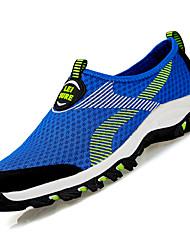 Для женщин Спортивная обувь Удобная обувь Тюль Весна Лето Для прогулок На плоской подошве Темно-синий Серый Розовый Тёмно-синийМенее 2,5