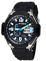 Men's Fashion Watch Digital Watch Digital Rubber Band Black
