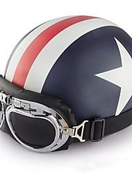 Meio Capacete Flexivél ABS capacetes para motociclistas