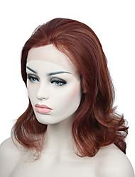 Perruque avant en fibre résistant à la chaleur et à la chaleur longueur moyenne perruques