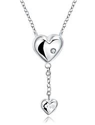 XU Women's Fashion Heart-shaped Letters Necklace