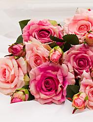 3 предмета 3 Филиал Пластик Розы Букеты на стол Искусственные Цветы