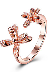 Women's Cuff Ring Floral Sterling Silver Platinum Plated Rose Gold Plated Jewelry For Party Birthday Business Gift Daily Office & Career
