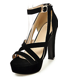 Women's Shoes Chunky Heel Open toe Platform Strappy Ankle Strap Sandal More Color Available