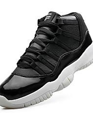 Herren-Sneakers Frühjahr Herbst Komfort Fleece lässig schwarz / weiß rot / schwarz schwarz Basketball