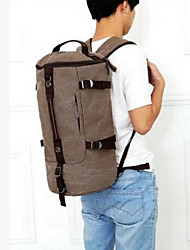 Men Backpack Canvas All Seasons Outdoor Black Coffee Army Green