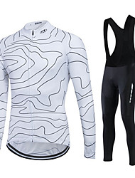 fastcute Cycling Jersey with Bib Tights Women's Men's Unisex Long Sleeve BikePants/Trousers/Overtrousers Tracksuit Fleece Jackets Jersey
