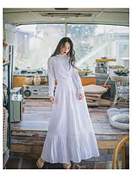 Women's High Rise Maxi Skirts,Simple Boho Cute Swing Ruffle Striped