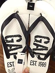 Men's Slippers & Flip-Flops Spring Comfort Tulle Casual Black White