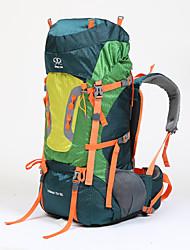 75 L рюкзак Заплечный рюкзак Многофункциональный Зеленый
