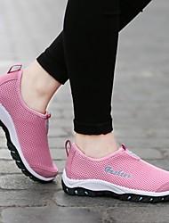 Femme-Extérieure Décontracté Sport-Violet Fuchsia Gris clair Rose-Talon Plat-Confort-Chaussures d'Athlétisme-Tulle