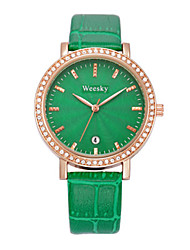 Mulheres Relógio de Moda Chinês Quartzo PU Banda Preta Marrom Verde