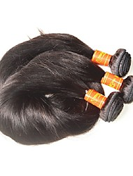 8A Malaysian Straight Virgin Human Hair Bundles Mixed 3Pieces 300Grams Lot Natural Black Color Machine Made Double Weft