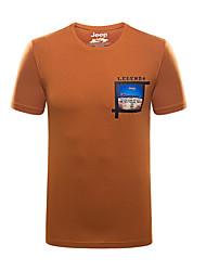 Homme Tee-shirt Escalade Respirable Eté Vert de Trèfle Cramoisi