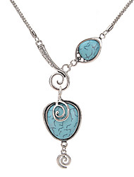 Women's Statement Necklaces Turquoise Alloy Circular Unique Design Costume Jewelry Jewelry For Party Daily Casual
